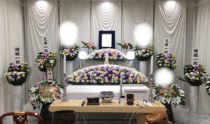 町屋斎場の家族葬花祭壇