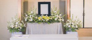 自宅葬の花祭壇