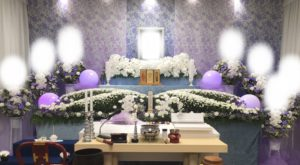 北千住の葬儀の花祭壇