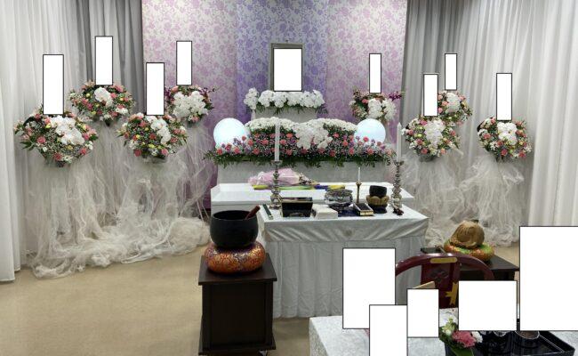 家族葬 花祭壇
